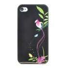 Colorfilm Loving Bird Protective Plastic Back Case for Iphone 4 / 4S - Black