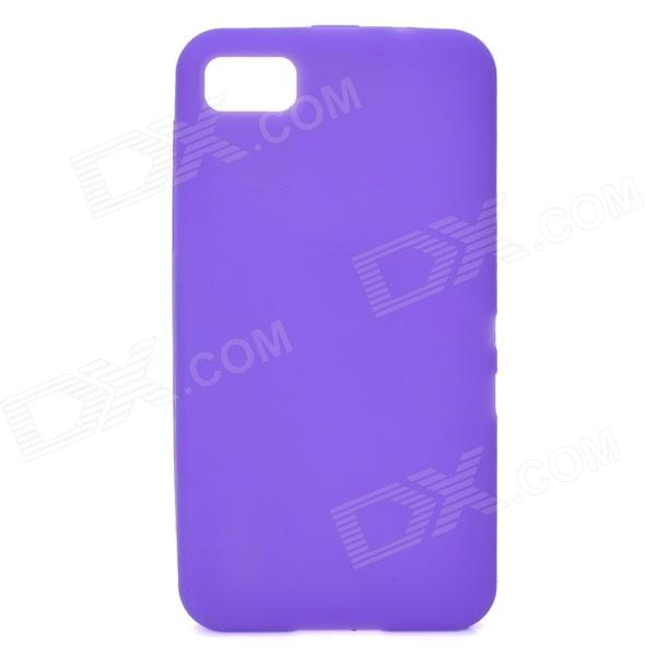 Protective Silicone Case for BlackBerry Z10 - Purple