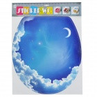1008 Starry Sky Pattern Decorative Sticker for Flush Toilet - Blue + White