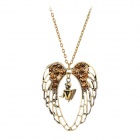 Angel Wings Heart Style Albronze Necklace - Bronze
