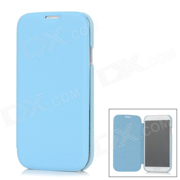 Protective Flip-Open PU Leather Case for Samsung Galaxy S4 i9500 - Blue protective flip open pu leather case for samsung galaxy s4 i9500 white