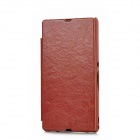 KALAIDENG Protective PU Leather Case for Sony Xperia Z L36h / L36i - Brown