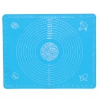 Silicone Kitchen Food Heat Shielding / Knead Dough Pad w/ Scale - Sky Blue