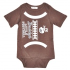 Doomagic American Football Style Infant Baby Bodysuit / Rompers Suit - White + Brown