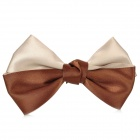 Bow Dual-Color Decorative Hairpin - Coffee + Grey