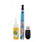 WH227 USB Rechargeable 650mAh Electronic Cigarettes w/ Tobacco Flavor Tar Oil - Blue