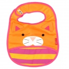 Cute Cat Pattern Waterproof Cloth Bib for Kids w / Velcro - Orange + Deep Pink + Yellow + White