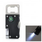 Multifunctional Stainless Steel Knife w/ Compass / Bottle Opener / Flashlight - Black