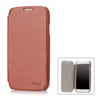 KALAIDENG Protective PU Leather Flip-Open Case for Samsung Galaxy S4 / i9500 - Brown