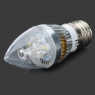 TongHeZhaoMing E27 3W 280lm 6500K 3-LED Weiß Candlelight Shaped Lampe (85 ~ 265V)