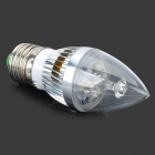 TongHeZhaoMing E27 3W 280lm 6500K 3-LED Cold White Candlelight Lamppu