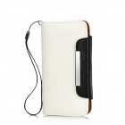 KALAIDENG Protective PU Leather Case for HTC M7 - White + Black