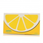 K590-1 Cute Fruit Pattern Memo Pad Note Paper - White + Yellow