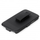 2-in-1 Horizontal Stripe Protective ABS Back Case w/ Clip for Samsung Galaxy Note 2 / N7100 - Black