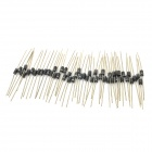 1N4007 1000V 1A Unilateral Rectifier Diodes Set - Black + Silver (50 PCS)