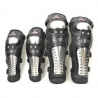 MAD BIKE MAD 888 4-in-1 Outdoor Motorcycle Off-Road Hand & Knee Support Set - Black + Silver