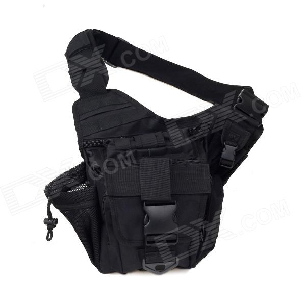 Tactical Outdoor One Shoulder Knapsack Bag - Black (28L)