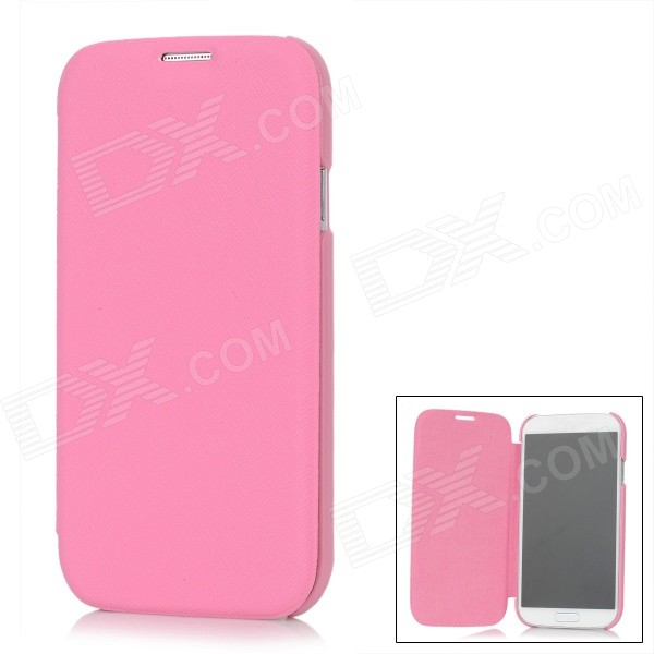 все цены на Protective Flip-Open PU Leather Case for Samsung Galaxy S4 i9500 - Deep Pink онлайн