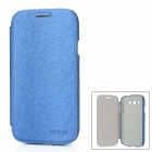 ROCK Protective PU Leather Flip-Open Case for Samsung i9080 - Deep Blue