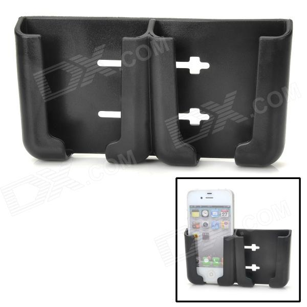 Multi-Function Car PVC Stand for Iphone 4 / Cell Phone / GPS / Name Card - Black baseus car phone holder black