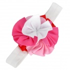 Cute Kids Headband w/ Rose Flowers - Red + Deep Pink + Pink + White