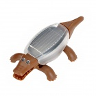 Educational Solar Robot Crocodile Spielzeug - Brown