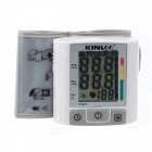 "KINLEE WP6020 3.2"" LCD Wrist Style Digital Blood Pressure Monitor - White + Grey (2 x AAA)"