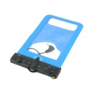 R-13B Waterproof Bag Case w/ 3.5mm Earphone Plug + Armband + Neck Strap for Iphone 5 / 4 - Blue