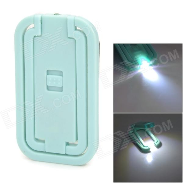 Multi-Function Card Style Pocket Folding LED White Table Light - Light Blue + Silver (3 x AG3)