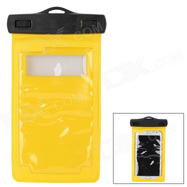 IPX8 Waterproof Bag Case w/ Armband + Neck Strap for Iphone Samsung Galaxy Note 2 - Yellow + Black usams fluorescent ipx8 waterproof bag case for iphone 6s 6 4 7 with strap black