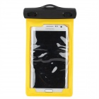 IPX8 Waterproof Bag Case w/ Armband + Neck Strap for Iphone Samsung Galaxy Note 2 - Yellow + Black
