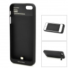 2200mAh Rechargeable External Battery Case for iPhone 5 - Black (DC 5V)