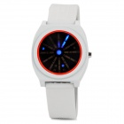Multifunction Mineral Glass Dial Steel Casing LED Digital Wrist Watch - White