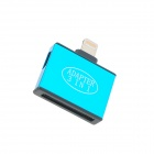 IN-30 USB 2.0 30-Pin Stecker Kabel w / Blitz 8pin Stecker an Micro / Mini 5pol Buchse Adapter - Blau