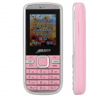 "AOLE 100mini GSM Bar Phone w/ 1.8"" LCD Screen, Quad-Band, Dual-SIM and Bluetooth - Pink + Silver"