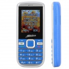 "AOLE 100mini GSM Bar Phone w/ 1.8"" LCD Screen, Quad-Band, Dual-SIM and Bluetooth - Blue + Silver"