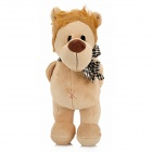 Smilling Plush Lion w/ Bowknot / Suction Cup Doll Toy - Brown