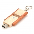 CHU-32 Tire Madera Estilo USB 2.0 Flash Disk Drive w / llavero - Madera + Brown (8GB)