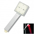ShenDing LD8008-A4 Temperature Sensor RGB Light Changing 9-LED Handheld Shower Head - Silver