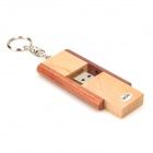 CHU-32 Tire Madera Estilo USB 2.0 Flash Disk Drive w / llavero - Madera + Brown (16GB)