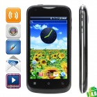 "F326 Android 4.0 GSM Bar Phone w/ 4.0"" Capacitive Screen, Quad-Band, Wi-Fi and Dual-SIM - Black"