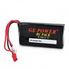 GE POWER 7.4V 1000mAh 20C Li-ion Battery Pack for R/C Helicopter - Black
