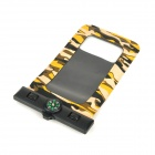 Waterproof Bag Pouch w/ Compass + Armband + Neck Strap for Iphone 5 / 4 / 4S - Camouflage Yellow