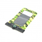 Waterproof Bag Pouch w/ Compass + Armband + Neck Strap for Iphone 5 / 4 / 4S - Camouflage Green