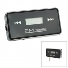 "Rechargeable 0.7"" LCD Display Car FM Transmitter w/ 3.5mm Plug for Iphone 5 - Black"