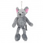 Cute Koala Shaped Plush Doll Toy Magnet Fridge Sticker w/ Keychain - Grey