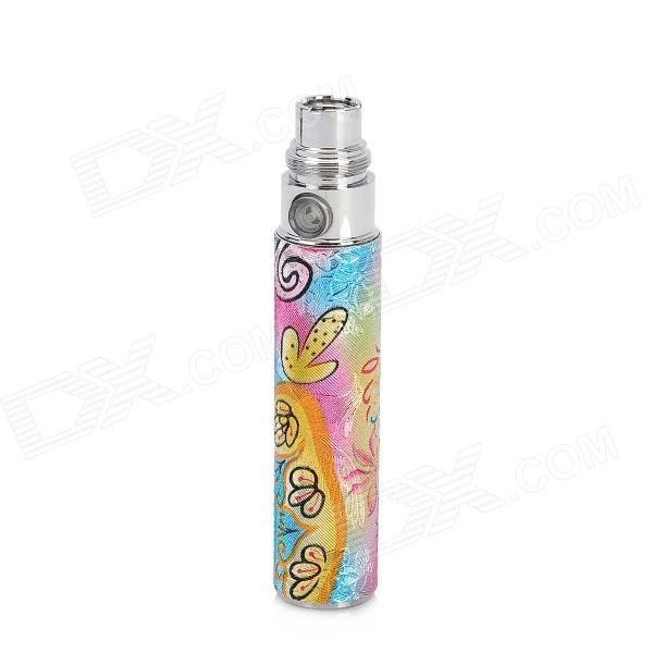 650mAh Stainless Steel Battery Pole w/ Decorative Sticker for EGO Electronic Cigarettes - Multicolor