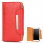 KALAIDENG Protective PU Leather Flip-Open Case for Samsung i9500- White