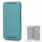 KALAIDENG Protective PU + Fabric Case w/ Stand for HTC New One / M7 - Green