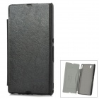 KALAIDENG Protective PU Leather Case for Sony Xperia Z L36h / L36i - Black